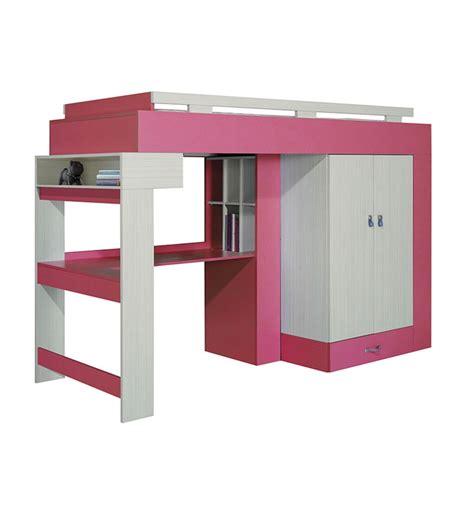 libellule designer bunk bed desk combination rose