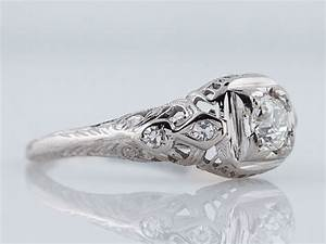Antique engagement ring art deco 31ct transitional cut for Wedding rings minneapolis
