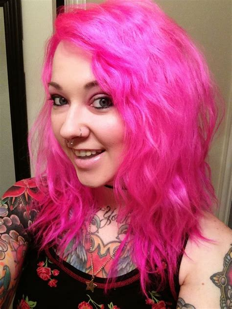 1000 Ideas About Hot Pink Hair On Pinterest Colourful