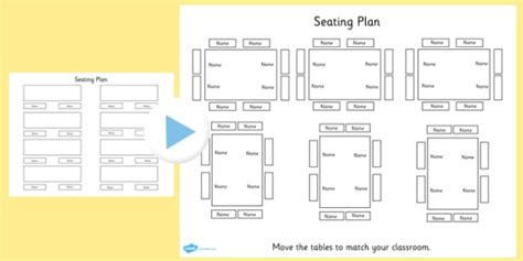 Theatre Style Seating Plan Template by Editable Table Seating Plan Powerpoint Table Seating Plan