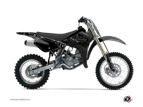 kit d 233 co moto cross zombies suzuki 85 rm noir kutvek kit graphik