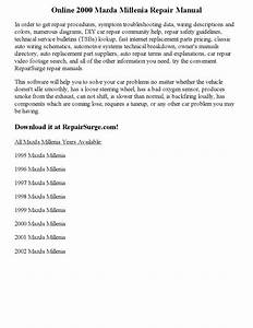 2000 Mazda Millenia Repair Manual Online By Nicole