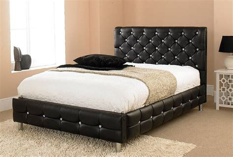 Cheap Beds by Cheap Beds Faux Leather Bed 3ft Single