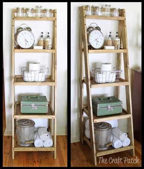 diy ladder shelf bathroomstorage diyfurniture