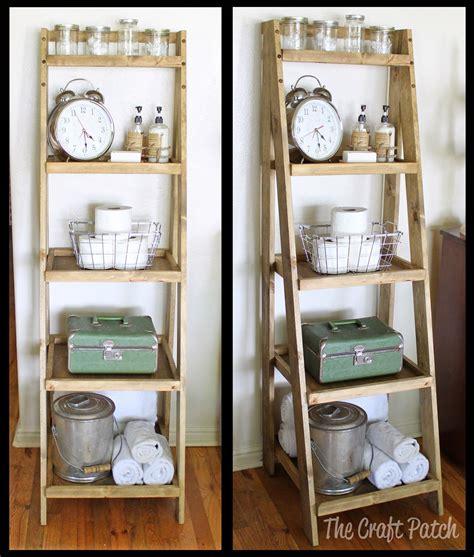 diy ladder shelf bathroomstorage diyfurniture