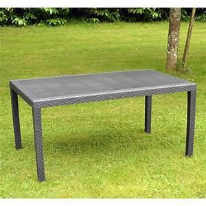 Table De Jardin Resine : table de jardin prince 1 50 m r sine tress e anthracite trigano store ~ Teatrodelosmanantiales.com Idées de Décoration