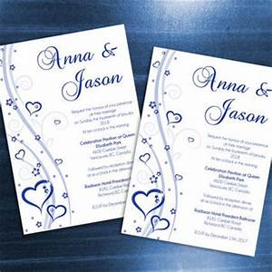 shop royal blue wedding invitations on wanelo With free printable wedding invitations royal blue