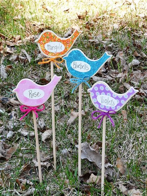 Birdy Flower Markers For Your Garden  Crafts By Amanda