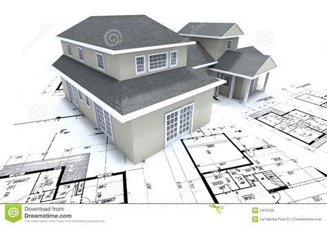 house plan architects house on architect plans royalty free stock photo image