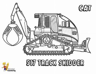 Coloring Construction Machines Pages Equipment Vehicle Skidder