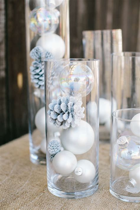 greatful winter wonderland candle centerpieces creative
