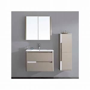 Meuble Salle De Bain Marron : meuble salle de bain en mdf pr mont r f sd035 800mg coloris marron glac ~ Melissatoandfro.com Idées de Décoration