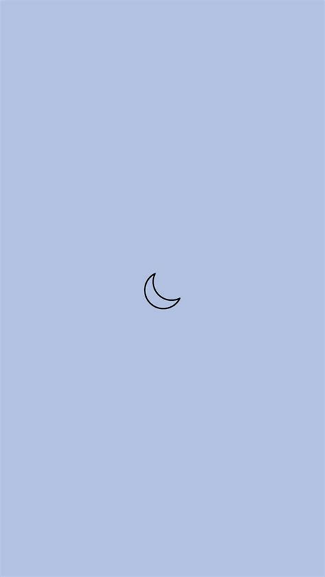 minimalistic moon blue phone background minimalist