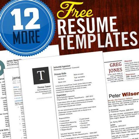 12 more free resume templates resume tips creative