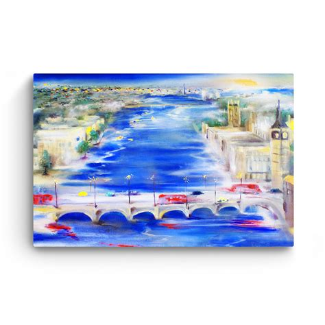 Danube home uae have exclusive range of furniture, home decor, furnishings, kitchen, lighting, outdoor & garden, electrical & bath accessories. Canvas Wall Art - Abstract - Bridge over the Danube in Budapest Painting 60 x 90 cm - Lys og Art