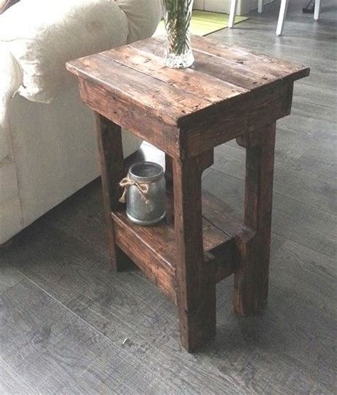 how to build an outdoor side table he grabbed an old pallet and made this in under 2 hours
