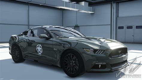 ford mustang army skin racedepartment latest formula