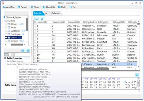 sqlite viewer  preview sqlite  files