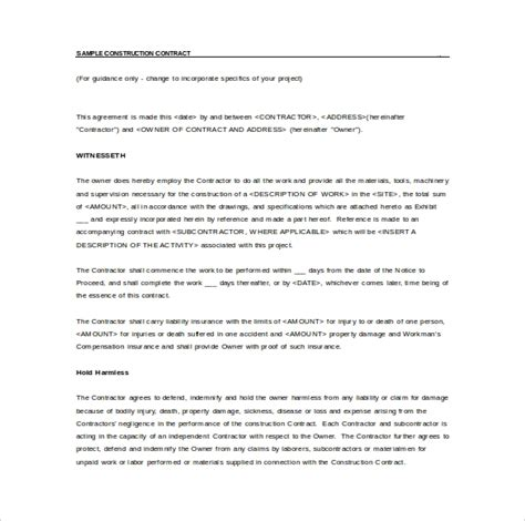 simple contract template    documents