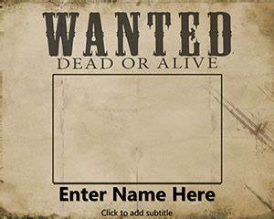 free wanted powerpoint template With wanted dead or alive poster template free