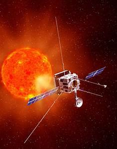 An artists concept of the solar orbiter spacecraft ...