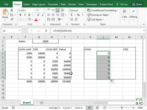 Fifo Spreadsheet Template by How To Calculate Stock Aging In Excel Fifo Inventory