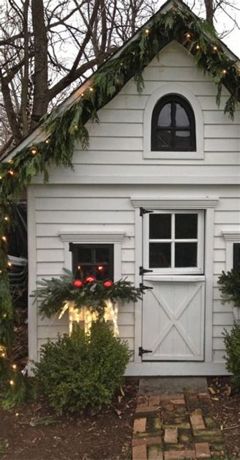 christmas shed decor home decorating trends homedit