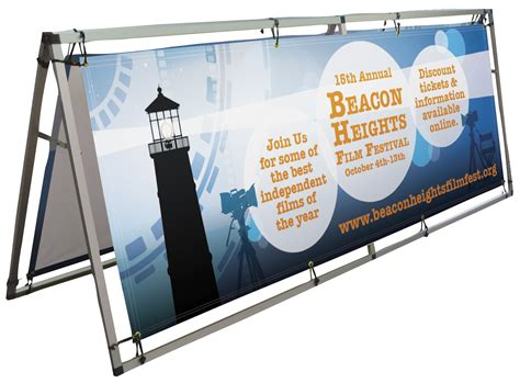 outdoor banner frame large 33x94