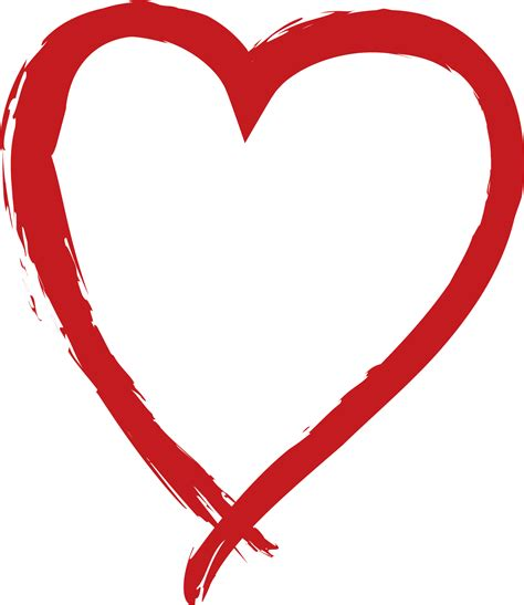 red love heart pictures   clip art