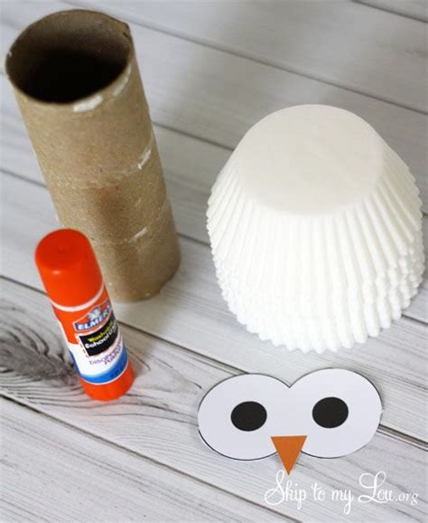 owl   cardboard tube  cupcake