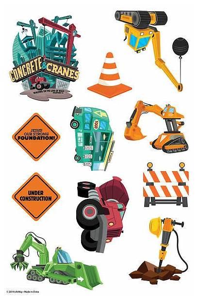 Vbs Cranes Concrete Theme Sheets Stickers Bible