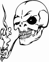 Skull Coloring Evil Smoking Pipe Skulls Pages Printable Clipart Zombie Clip Smoke Drawing Tattoos Tattoo Svg Clipartbest Fire Visit Deviantart sketch template