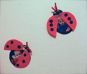 Bricolage 3 Ans : coccinelle porte photo mon escargot ~ Melissatoandfro.com Idées de Décoration