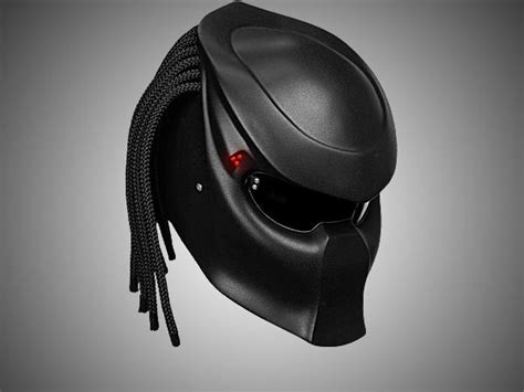 Predator Motorcycle Helmet With Laser-controlled Aimer Is