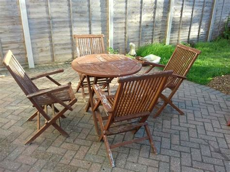 solid teak garden furniture table chairs