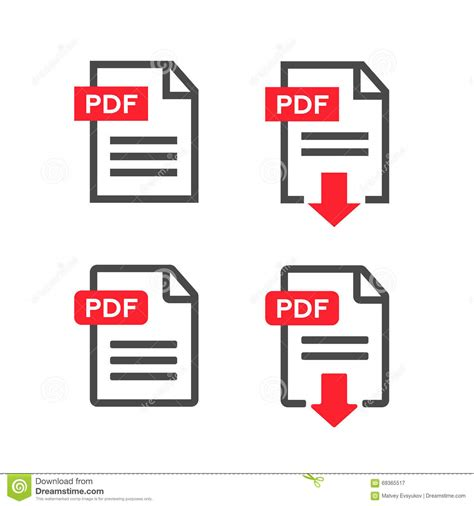 free pdf pdf icon upload file button vector cartoondealer 79714883