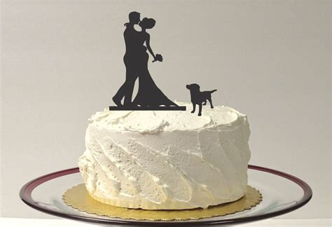 Made In Usa With Dog Wedding Cake Topper Silhouette Wedding