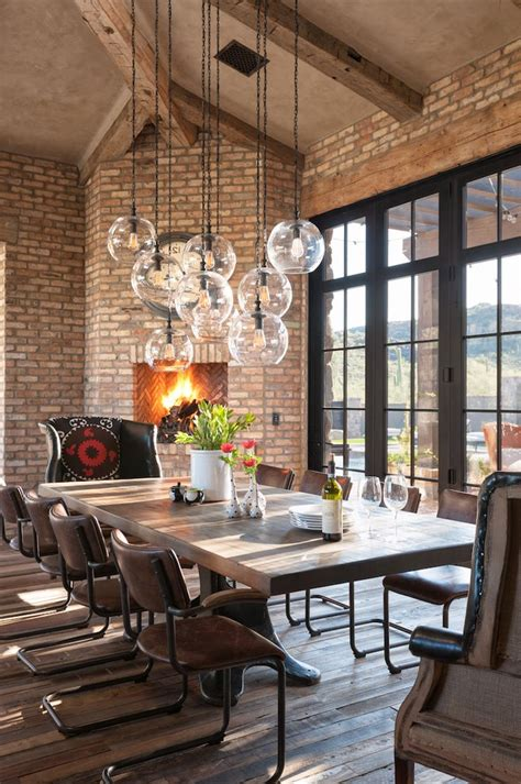phoenix lighting  vaulted dining room farmhouse