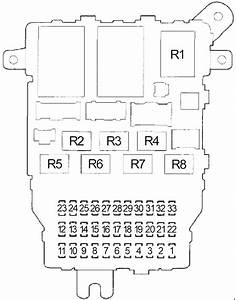 Honda Accord  2003 - 2007  - Fuse Box Diagram