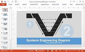 Systems Engineering V Model Diagram Template For Powerpoint