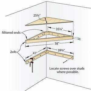 Download Corner Shelf Building Plans PDF concrete picnic