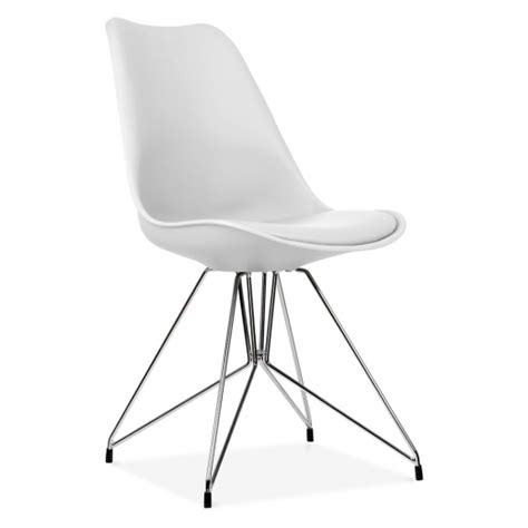 protection pied de chaise eames inspired white dining chair with geometric legs cult uk