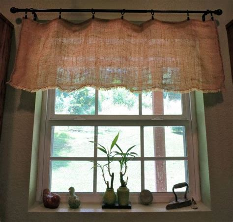 country kitchen valance shabby chic country cottage chic farmhouse rustic burlap 2921