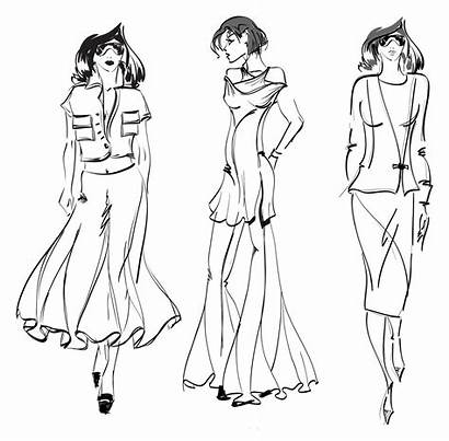 Coloring Pages Drawing Models Sketch Modern Figure