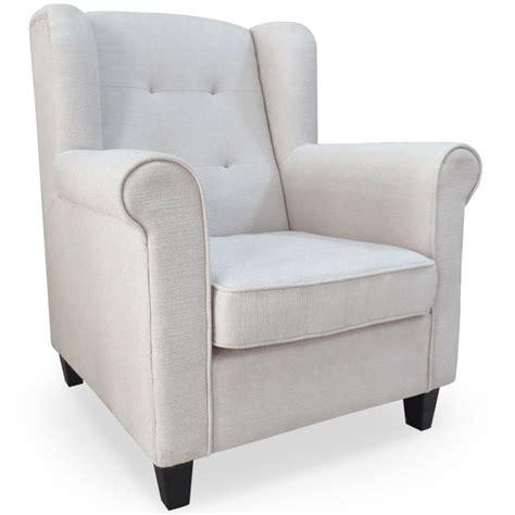 fauteuil beige pas cher fauteuil oxford tissu beige pas cher d 233 co