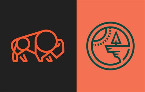 intricate monoline logo designs    inspire