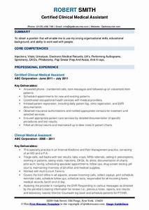 Medical Treatment Certificate Format Clinical Medical Assistant Resume Samples Qwikresume