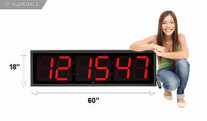 Extra Clock Countdown Led Numerals Clocks Timer