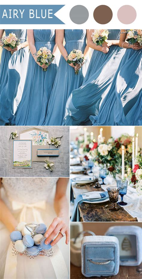 blue wedding color schemes top 10 fall wedding color ideas for 2016 released by pantone