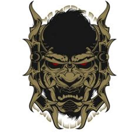 black  white samurai mask ink samurai art samurai